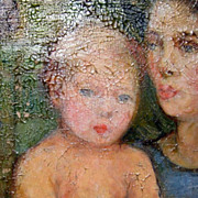 SALE Terechkovitch Constantin_ Portrait of a with a Child