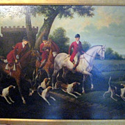 SALE Larsen_Ole_Hunting_with_Hounds_Scene