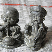 SALE Opium_Weights_2_Iron Figurines of Eastern Boys