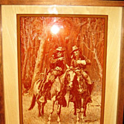 SALE VPh_gl_ Remington OKLAHOMA INDIANS_Shadowboxpicture