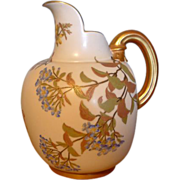 Royal Worcester Pottery Floral Pitcher