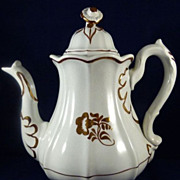Tea Leaf Ironstone Coffee Pot  Great Shape!