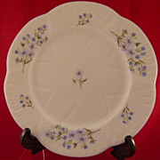 "Shelley Blue Rock 8"" Plate Fine Bone China 13591"