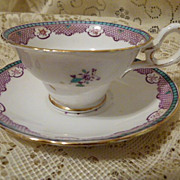 Very Pretty  Copelands Grosvenor China Cup and Saucer Made in England