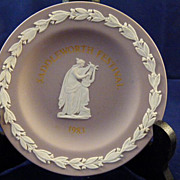 Wedgwood Lilac Jasperware Pin Dish Saddleworth Festival 1983