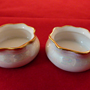 Lovely Pair of Austrian Porcelain Open Salts