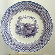 Fabulous Minton 11.75&quot; Purple Transferware Chop Serving  Plate The Gem