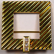 "SALE TIFFANY Diamond 18K Gold Brooch - Beautiful ""Glamour"" Design!"