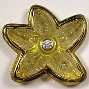 Starfish Pendant/Brooch - 18K Yellow Gold, Beryl, Diamond - Gunther Weinz