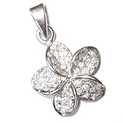 SALE Lovely Silver Pendant with White Cubic Zirconia
