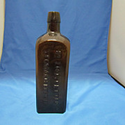 Bitters Bottle-Dr J Hostetter's (Manufactured by Lorenz & Wightman 1862-71)