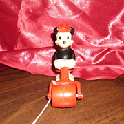 Vintage 1950's Marx Toys Mickey Mouse Ramp Walker