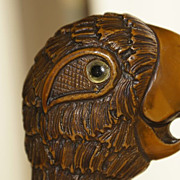 SOLD Vintage bakelite parrots' head, bottle opener.