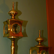 SALE Pair of Brass Carriage Lamps