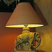 SALE Elephant Lamp