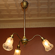 SALE Early Electric Light Fixture