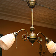 SALE Early Electric 2 Arm Light Fixture
