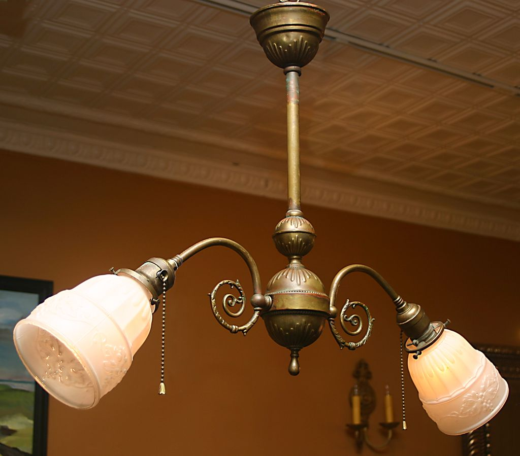 Early Electric 2 Arm Light Fixture