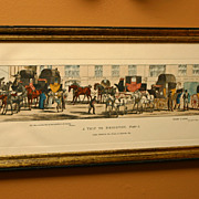 "SALE Amazing! Framed Print Set, signed Thomas McLean  ""A Trip to Brighton"""