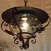 SALE Arts and Crafts Style Hanging Lantern