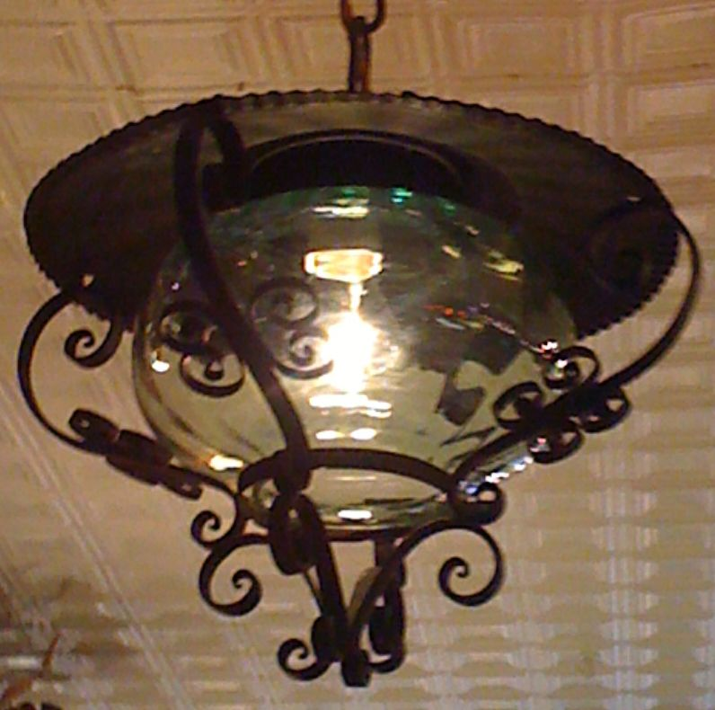 Arts and Crafts Style Hanging Lantern