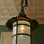 REDUCED Craftsman Style Hanging Lantern