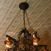 1930's Cast 5 light fixture
