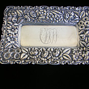 Sterling Repousse Calling Card Tray-Jacobi & Jenkins