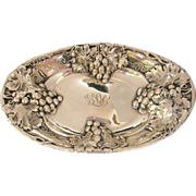 Sterling  Silver  Repousse Serving Tray - Mauser