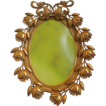 Antique ~ Victorian~ Art Nouveau~ Ornate Oval Brass Frame~ Floral Design
