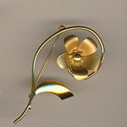 REDUCED Signed Bond Boyd Gold-filled Flower pin/brooch