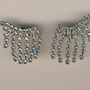 SALE Sparkling Coro Articulated Chandelier Rhinestone Earrings