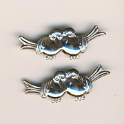 SALE Cute Coro Sterling Lovebirds Pins (2)