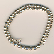 SALE Vintage Italian Sterling Graduated Bead Necklace