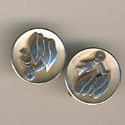 Unusual Sterling Earrings - Mexico Eagle 3 MR mark