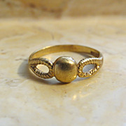 Modernist Italian Open Band Bead Ring in 750 18k Gold Size 5 Signed AR