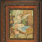 """Sweet Dreams"" Antique Chromolithograph on Paper"