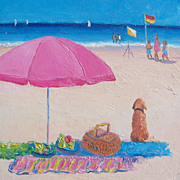 Beach Painting 'The Picnic'  Original Oil Painting by Jan Matson