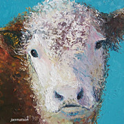 Carnation the Cow - Original Oil Painting by Jan Matson