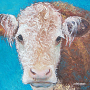 SOLD 'Cecilia the Cow' Original Animal Oil Painting by Jan Matson