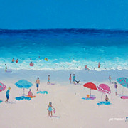 Beach Paintings  by Jan Matson - 'Hot Summers Day'