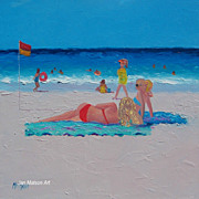 Beach Paintings  by Jan Matson - 'Lazy Summer Days'