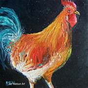 Rooster Painting by Jan Matson 'Galileo""