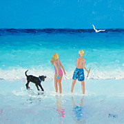 Beach Painting by Jan Matson, 'All Summer Long'.