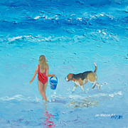Beach Painting by Jan Matson, 'Water Play'
