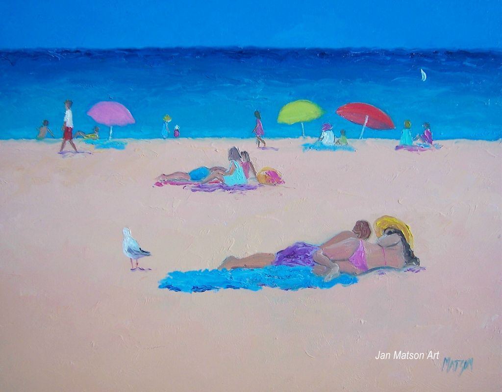 Beach Painting 'Those Lazy Days of Summer' by Jan Matson