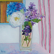 SALE Flowers in a Vase - Original Oil Still Life Painting by Jan Matson