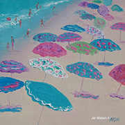 Beach Painting 'Beach Umbrellas' by Jan Matson