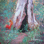 Landscape Painting 'By the Hollow Gum Tree' by Jan Matson