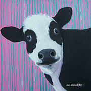 Cow Painting 'Candy' oil painting by Jan Matson